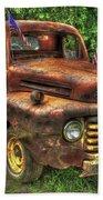 American Ford 1950 F-1 Ford Pickup Truck Art Bath Towel