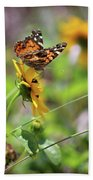 American Lady Butterfly By The Beach Bath Towel
