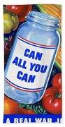 American Propaganda Poster Promoting Canned Food Bath Towel