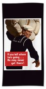 American Sailor -- Ww2 Propaganda Hand Towel