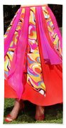 Ameynra Belly Dance Fashion - Multi-color Skirt 93 Bath Towel