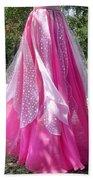 Ameynra Design - Pink-white Petal Skirt 146 Bath Towel