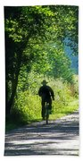 Amish Couple On Bicycles Bath Towel