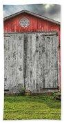 Amish Red Barn Bath Towel