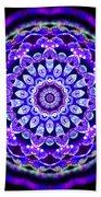 Ammersee Cropcircle Lightmandala Morph Bath Towel by Robert Thalmeier