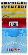 Amphicar Adventure Sign Bath Towel