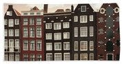 Amsterdam Architectre At Twilight Bath Towel