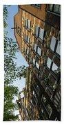 Amsterdam Spring - Fancy Brickwork Glow - Left Vertical Bath Towel