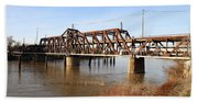 Amtrak California Crossing The Old Sacramento Southern Pacific Train Bridge . 7d11674 Bath Towel