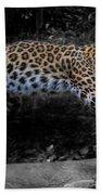 Amur Leopard On The Hunt Bath Towel
