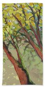 An Afternoon At The Park Hand Towel by Jennifer Lommers