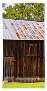 An American Barn 2 Painted Bath Towel