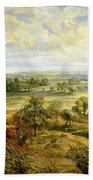 An Autumn Landscape With A View Of Het Steen In The Early Morning Hand Towel