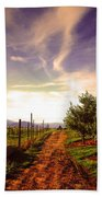 An Evening By The Orchard Hand Towel