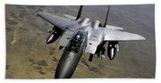 An F-15e Strike Eagle Aircraft Bath Towel