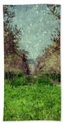 An Orchard In Blossom In The Eila Valley Bath Towel