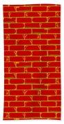 Anarchy Graffiti Red Brick Wall Bath Towel