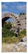 Ancient Bergama Acropolis Ruins Bath Towel