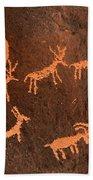 Ancient Indian Petroglyphs Bath Towel