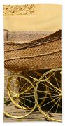 Ancient Swedish Baby Carriage Hand Towel