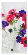 Anemone Flowers  Bath Towel
