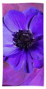 Anemone In Purple Hand Towel