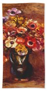 Anemones 1898 Bath Towel
