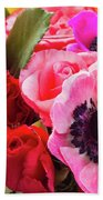 Anemones And Roses Bath Towel