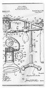 Anesthetic Machine Patent 1919  Bath Towel