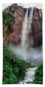 Angel Falls Canaima National Park Venezuela Bath Towel by Dave Welling