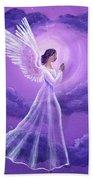 Angel In Amethyst Moonlight Bath Towel
