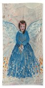 Angel In Blue Hand Towel