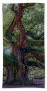 Angel Oak Tree Deeply Rooted History Bath Towel