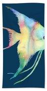 Angelfish I - Solid Background Bath Towel