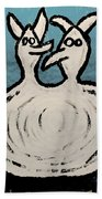 Angels And Devils - The Twins Bath Towel