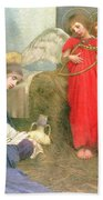 Angels Entertaining The Holy Child Bath Towel by Marianne Stokes