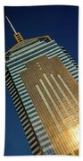 Angled View Of Central Plaza At Sunset Bath Towel
