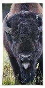 Angry Bison Bath Towel