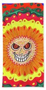 Angry Flower Hand Towel