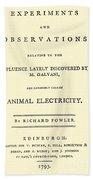Animal Electricity, Title Page Bath Towel