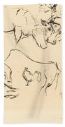 Animal Studies (verschiedene Tierstudien) Bath Towel
