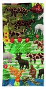 Animal Tapestry Bath Towel