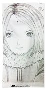 Anime Drawing  Bath Towel