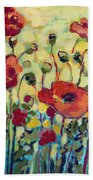 Anitas Poppies Bath Towel by Jennifer Lommers