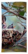 Anna's Hummingbirds Bath Towel