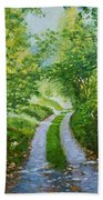 Annecy Forest Afternoon Bath Towel