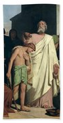 Annointing Of David By Saul Hand Towel