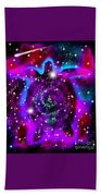 Another Cosmic Sea Turtle Bath Towel