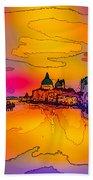 Another Surreal Venice Sunset Bath Towel