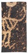 Antelope Petroglyph Bath Towel